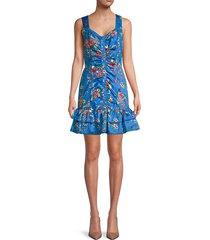 mahari floral cotton flounce dress