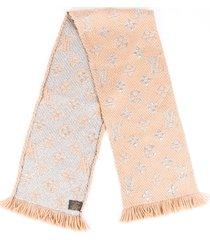 louis vuitton monogram wool scarf brown/monogram sz:
