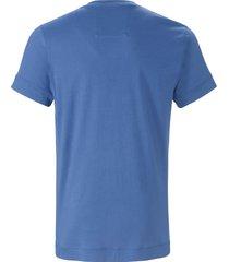 pyjamashirt ronde hals en korte mouwen van jockey blauw