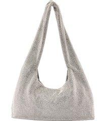crystal chain mail shoulder bag