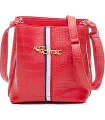bolsa alice monteiro faixa esportiva frontal saco - vermelho