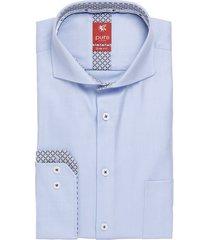 pure heren overhemd licht red label circkel contrast slim fit