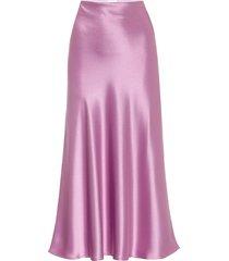 purple satin valletta midi skirt