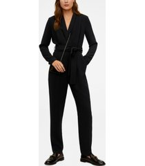 mango belt long jumpsuit