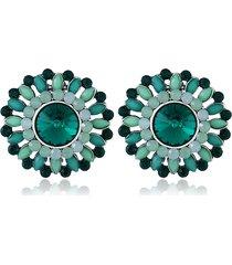 orecchini con strass di cristallo di lusso orecchini con fiore di boemia orecchini piercing colorati per le donne