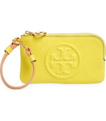 women's tory burch perry colorblock leather card case - yellow
