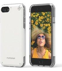 estuche protector puregear dualtek pro iphone 7 - blanco