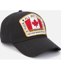 dsquared2 men's canada flag patch cap - black