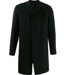 a.n.g.e.l.o. vintage cult 1910's notched straight coat - black