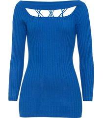 maglione a coste con cut-out (blu) - bodyflirt boutique