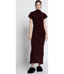 proenza schouler wool knit twisted dress burgundy xs