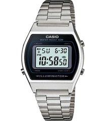 reloj casio b640wd_1av plateado acero inoxidable