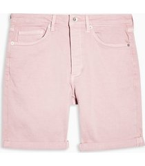 mens pink stretch skinny denim shorts