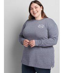 lane bryant women's game day graphic sweatshirt 34/36 new navy