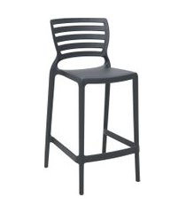 cadeira alta tramontina 92127007 sofia monobloco encosto vazado grafite