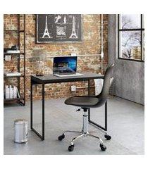 mesa de escritório studio preta 90 cm