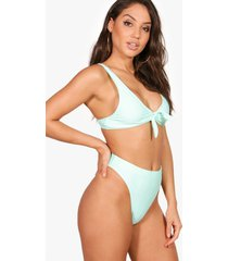 mix & match high cut bikinibroekje, muntgroen