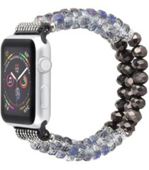 unisex bracelet gray pearl band for apple watch, 42mm