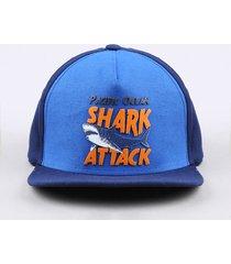 """boné infantil aba reta """"shark attack"""" azul marinho"""