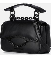 karl lagerfeld women's k/karl seven soft mini shoulder bag - black