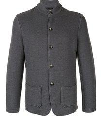 giorgio armani relaxed fit blazer - grey