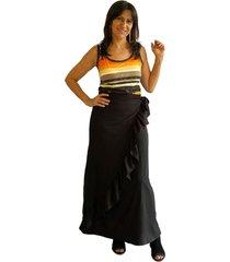falda con boleros cruzada negro plica