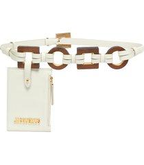 'la ceinture ano' pouch leather belt