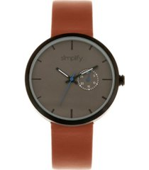 simplify quartz the 3900 genuine brown leather watch 40mm