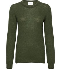 pure cashmere o-neck pullover stickad tröja grön sparkz copenhagen