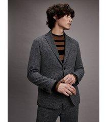 tommy hilfiger men's slim fit stretch cotton suit black/grey/white - 38