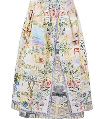 etro floral print flared skirt