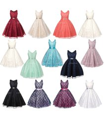 full lace flower girl dresses bridesmaid wedding pageant birthday party formal