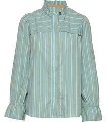 blouse blus långärmad grön noa noa