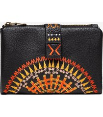 small coin wallet african mandala - black - u