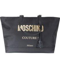 moschino couture logo shopper bag