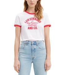 levi's cotton graphic ringer t-shirt