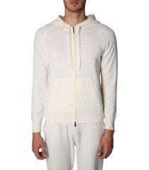 z zegna sweatshirt with zip and hood