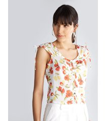 blusa escote redondo