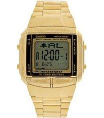 reloj casio modelo retro dorado hombre