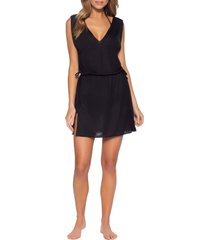 women's becca breezy basics cover-up dress, size medium/large - black