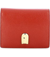 furla red 1927 small compact wallet