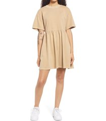 bp. babydoll organic cotton t-shirt dress, size x-small in beige nougat at nordstrom