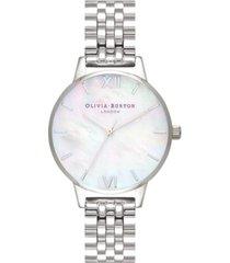olivia burton women's stainless steel bracelet watch 30mm