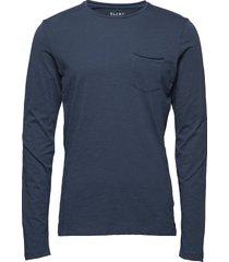 bhnicolai tee l.s. t-shirts long-sleeved blå blend
