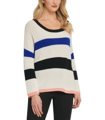 dkny cotton striped sweater