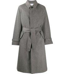 thom browne cashmere raglan car coat - grey