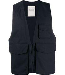 a kind of guise structured pocket gilet - blue