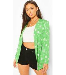 kimono met bloemenprint, groen