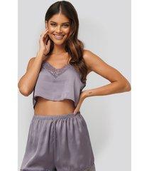 na-kd lingerie linne - purple