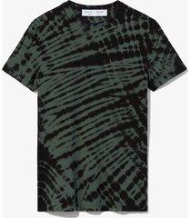 proenza schouler white label tie dye t-shirt 12251 black/sage/green s